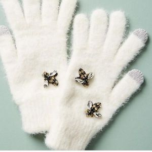 Anthropologie bumble bee 🐝 embellished gloves new
